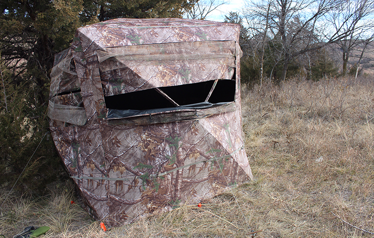 How to Winterize Ground Blinds for the Late Season